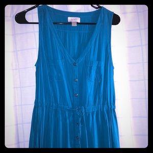 Teal Blue sleeveless maxi dress